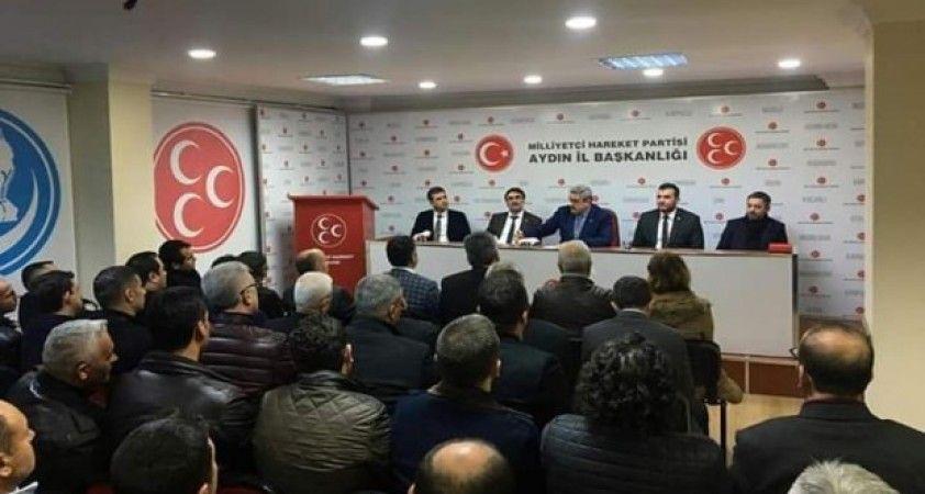 MHP İl Başkanı Alıcık ilçe başkanlarıyla ilk toplantısını yaptı