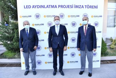 LED aydınlatma projesi ile daha verimli enerji kullanılıyor