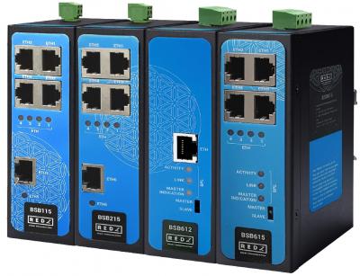 REDZ markasından genişbant haberleşmeyi destekleyen endüstriyel switchler