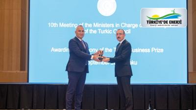 SOCAR Türkiye, ödülünü Bakü'de Ekonomi Bakanları Zirvesi'nde aldı